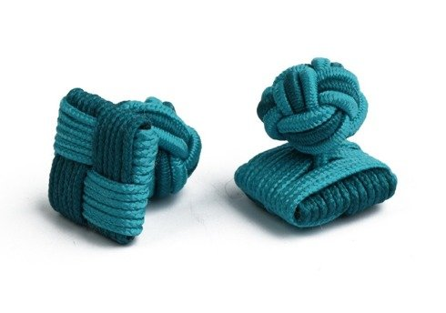 turquoise  silk knots