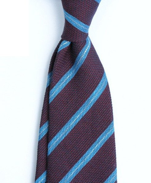 untipped linen jacquard regimental TIE