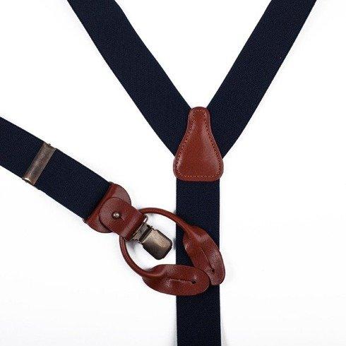 wool & cashmere BRACES 3,5 CM CLIPS & BUTTONS