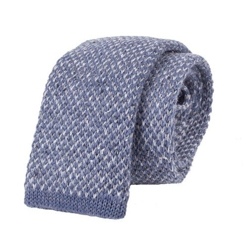 woolen sky blue donegal knitted tie