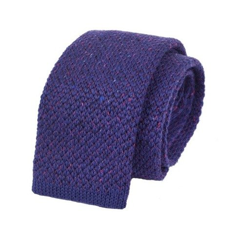 woolen violet donegal knitted tie
