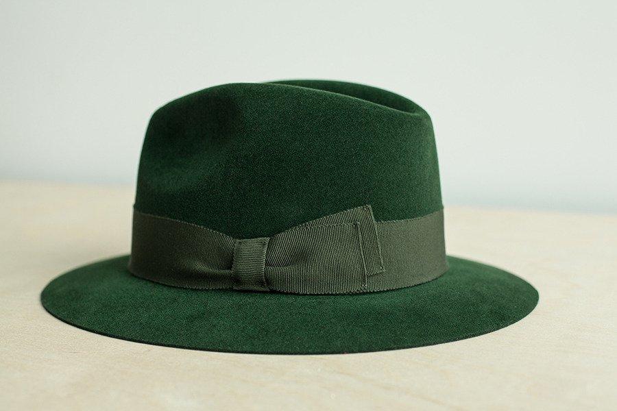 Fedora hat racing green ... a41ab302e9c