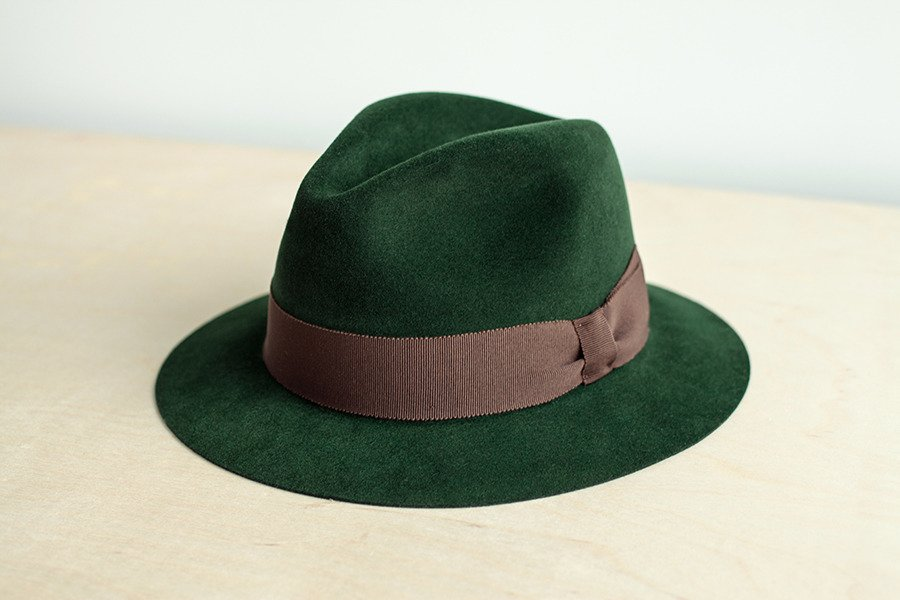 c61fbe89d6cae ... Fedora hat racing green Click to zoom