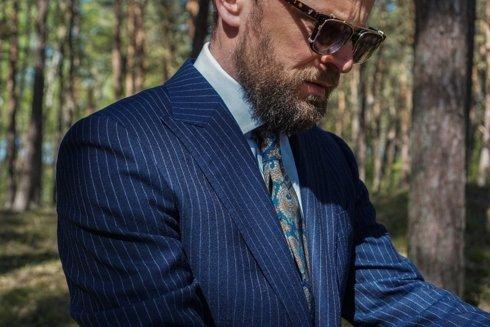 'John' classic blue chalkstripe suit
