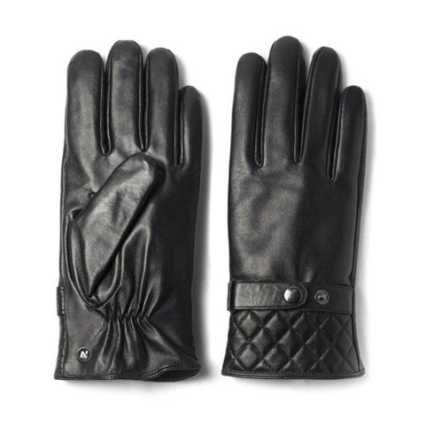 Black gloves lamb leather