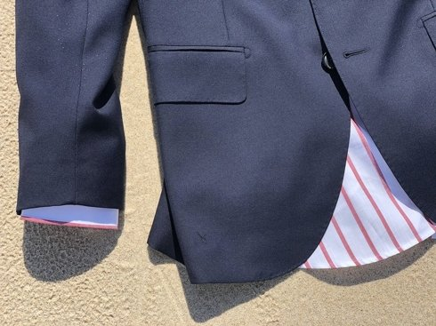 Blue navy Classic suit 'Fred' 100% wool VBC