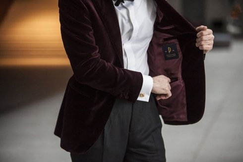 Dinner jacket 'Luciano' velvet from Holland & Sherry