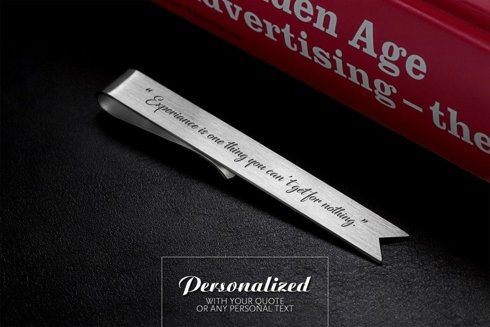 Engraved Silver Bookmark
