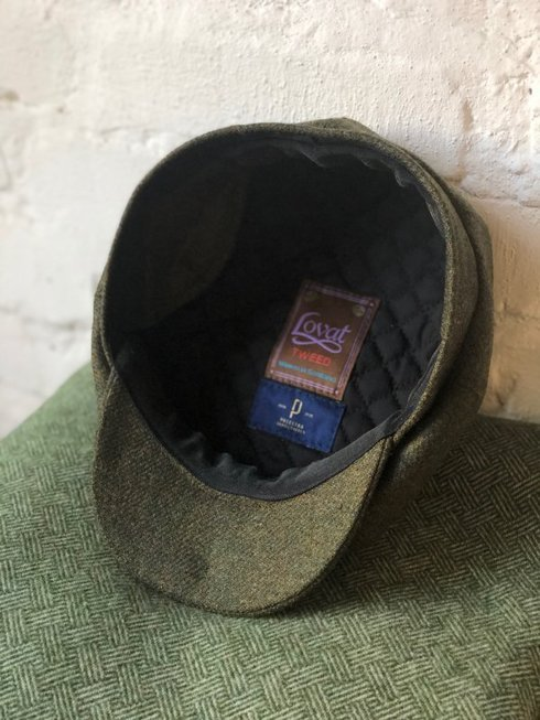 FOREST GREEN DRIVER'S CAP LOVAT TWEED