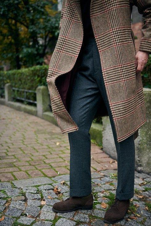 Grey flannel Gurkha trousers