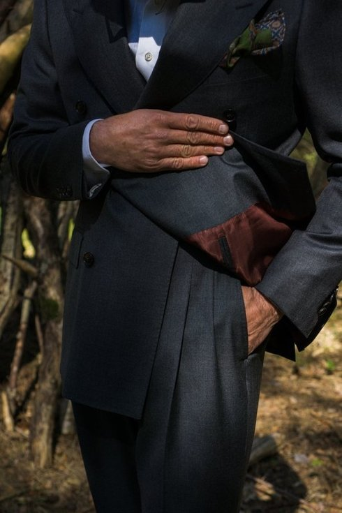 'Henry' classic double breasted grey suit