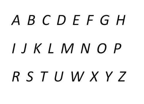 Inscription Calibri 1-4 characters