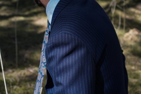 'John' classic double breasted grey suit