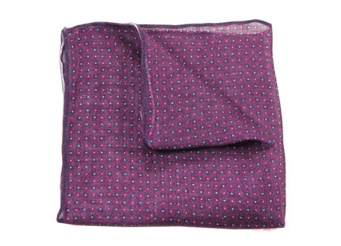 LINEN POCKET SQUARE FLOWER PATTERN