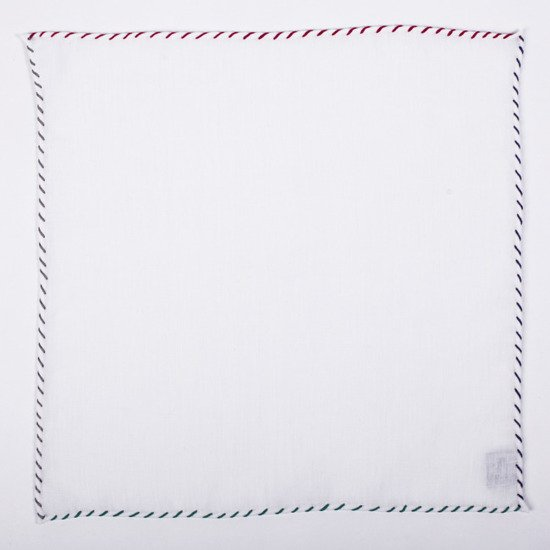 LINEN POCKET SQUARE - ONE thread - FOUR COLORS