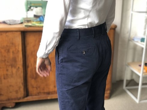Navy Blue Chino Trousers