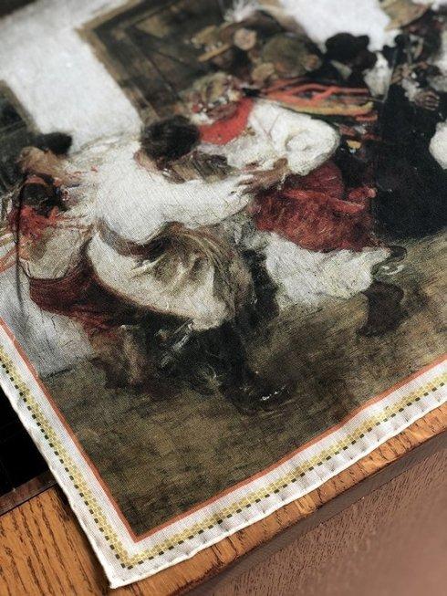 Pocket square 'Kolomyjka' Teodor Axentowicz