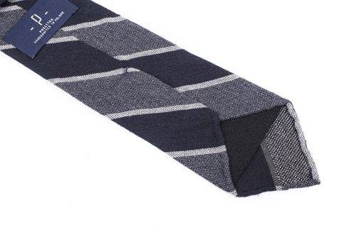 Raw silk tie