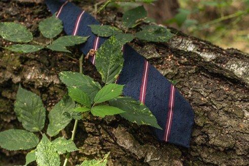 Shantung herringbone tie