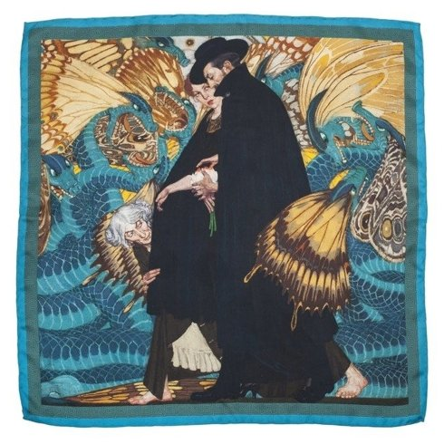 "Silk 65 cm scarf ""The war and us"" Edward Okuń"