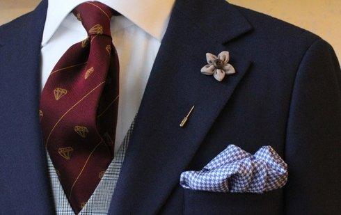 Silk & linen untipped tie