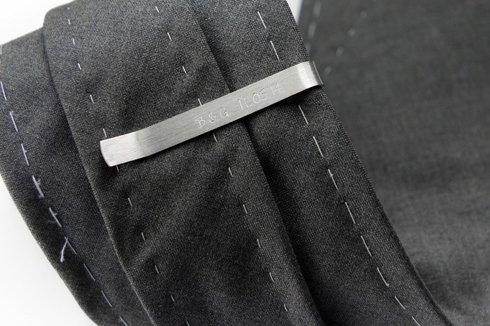 Silver Tie Clip alphabet