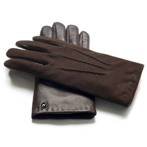 Suede gloves with cashmere lining