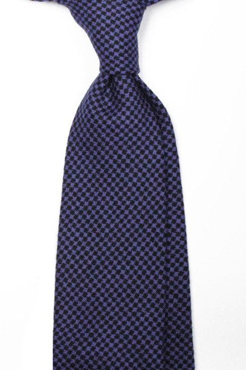 UNTIPPED WOOLEN  TIE houndstooth check