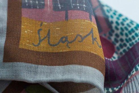 Wool and Silk SILESIA scarf 65 cm