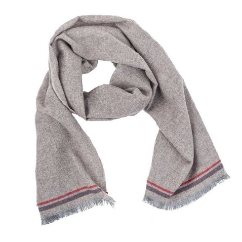 beige melange cashmere scarf