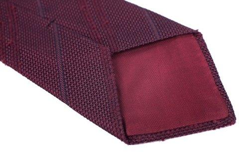 burgundy Grenadine tie with shantung stripes