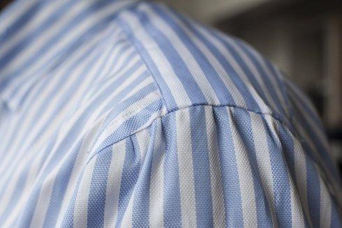 cotton Oxford shirt with spalla camicia shoulder
