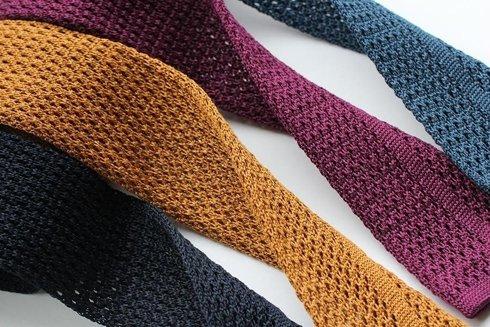 cotton FUCHSIA knitted tie