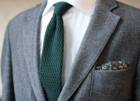 cotton paisley pocket square