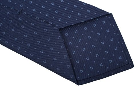 dark blue Macclesfield tie
