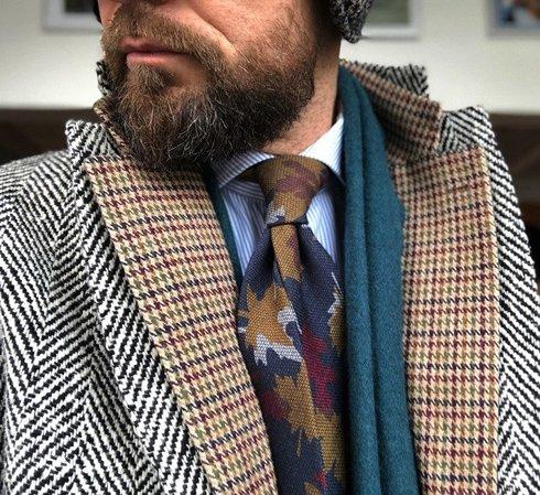 garza wool tie