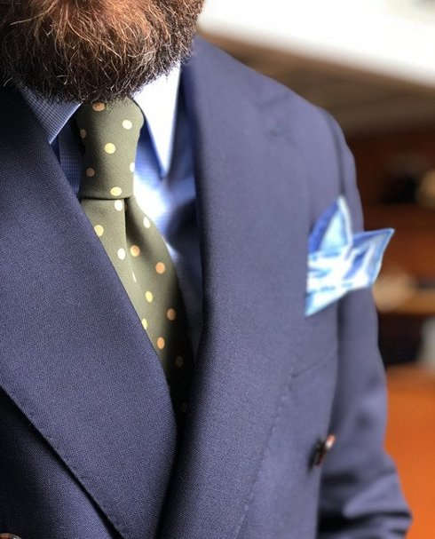 green ANCIENT MADDER SILK tie
