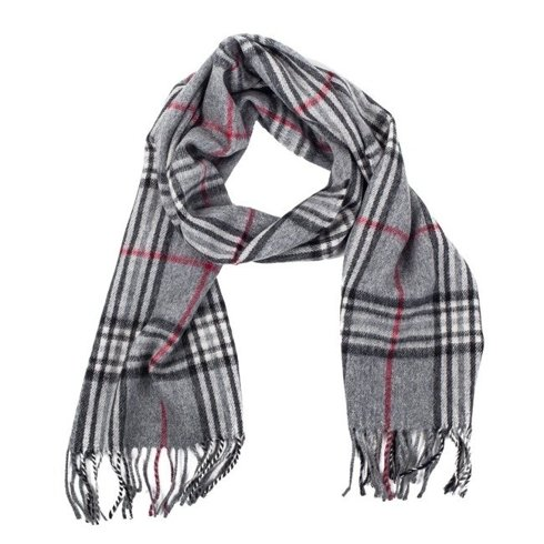 grey cashmere & wool classic scarf