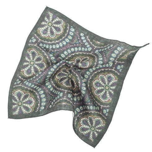 linen ornament pocket square