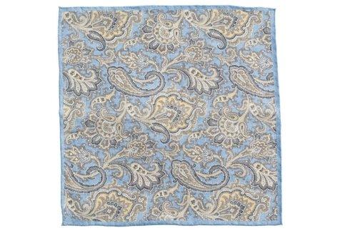 linen pocket square paisley