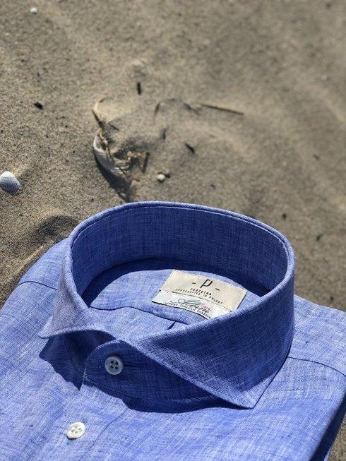 linen popover blue