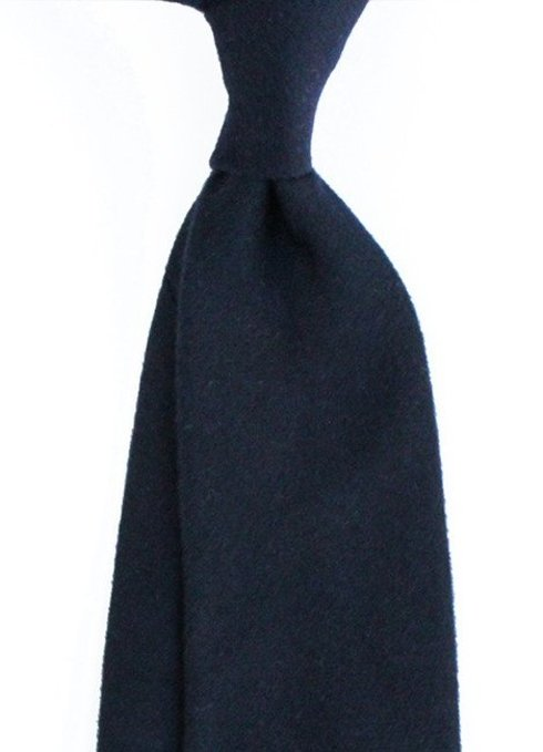 navy cashmere untipped TIE