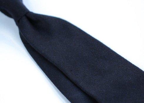 navy cashmere untipped TIE
