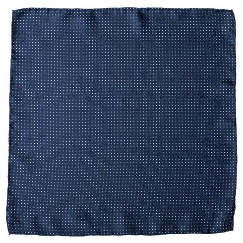 navy pocket square polka dots