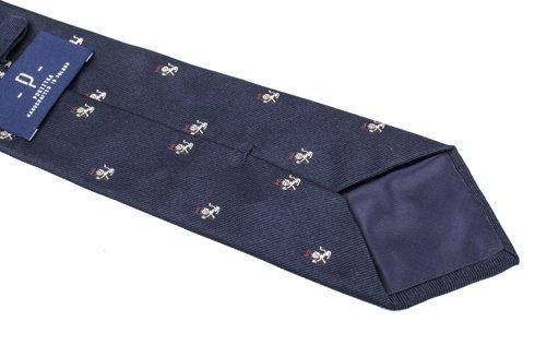 navy silk tie