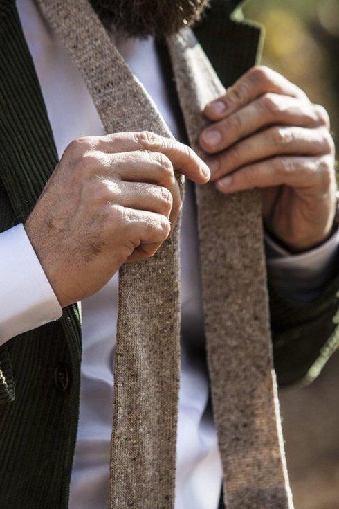orange knit tie