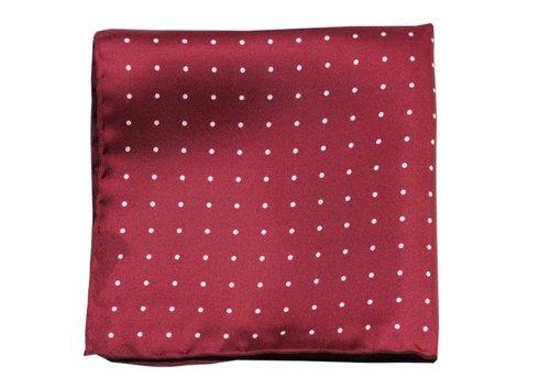 polka dots silk pocket square