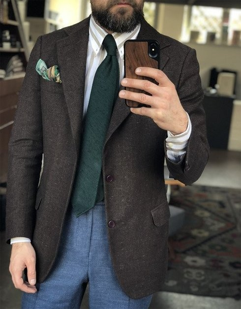 racing green UNTIPPED shantung tie