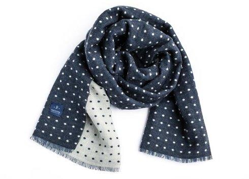 reversible wool scarf