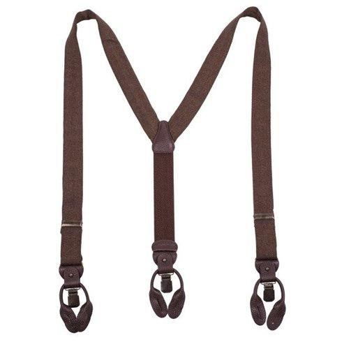 silk BRACES 3,5 CM CLIPS & BUTTONS